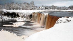 Водопад Ягала зимой 3