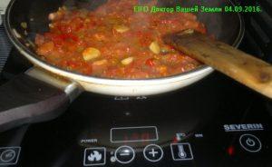 Каменная сковорода на индукционной печи