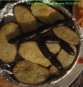 Рождетвенская кровяная колбаса с картошкой